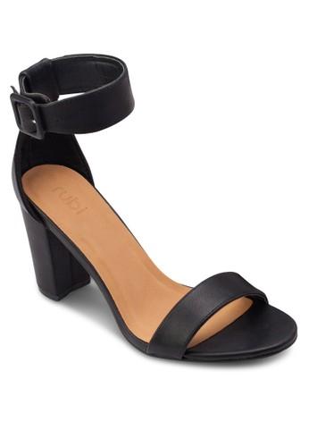 San Fran 扣環踝帶粗跟高跟涼鞋,esprit 評價 女鞋, 鞋