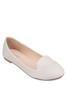 Perforated Ballerina Loafers