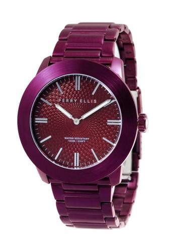 Perry Ellis red Perry Ellis Slim Line Men 46mm Quartz Stainless Steel Watch 03007-02 44AECAC9D0B69EGS_1
