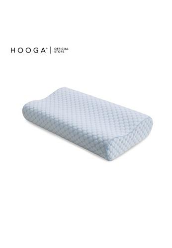 HOOGA white and blue Hooga Hydrogel Contour Memory Pillow Olivia. CAB15HLAC23B11GS_1