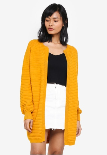 Something Borrowed yellow Knitted Relaxed Cardigan 24049AA01D0352GS_1
