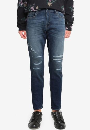 Hollister 藍色 緊身牛仔褲 2052FAAB212886GS_1