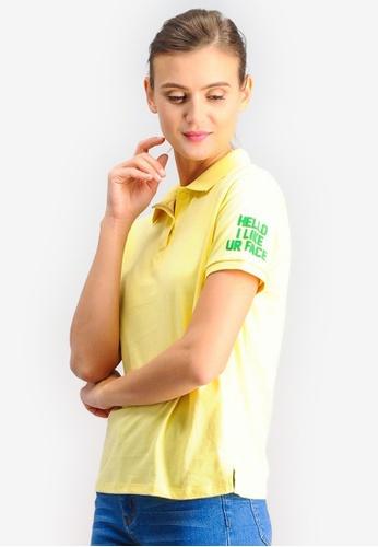 BENCH yellow Polo Tee with Sleeve Detail 62B7BAAA5C3652GS_1