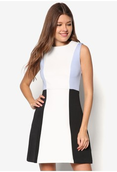 Collection Colour Blocked Fit& Flare Dress