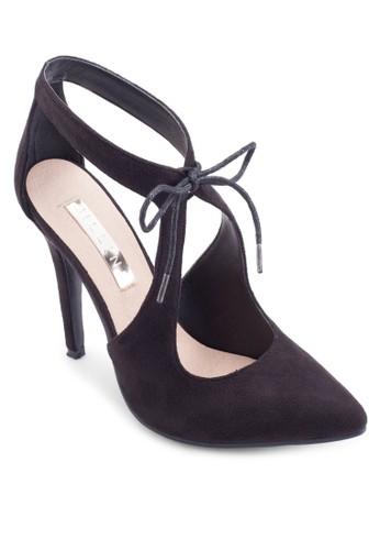 鏤空尖頭麂皮高跟鞋, esprit 眼鏡女鞋, 鞋