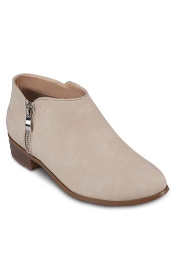 PU zalora 評價側拉鍊踝靴, 女鞋, 靴子