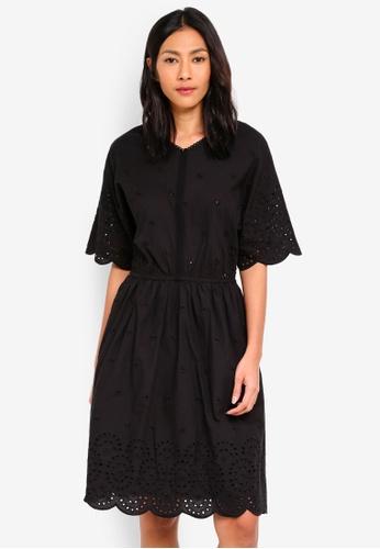 ESPRIT black Light Woven Midi Dress 40CE4AAAE79E63GS_1