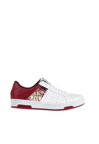 Royal Elastics 白色 and 紅色 Icon 皮質休閒鞋 RO796SH099IHTW_1