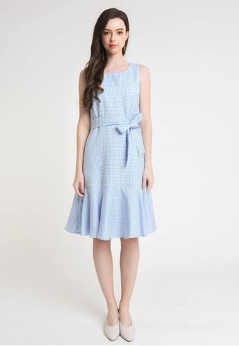 L'zzie blue LZZIE RELLAS DRESS - BLUE 4F881AA6E77F3DGS_1