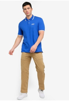8b52a6f33 42% OFF GAP Pique Polo Shirt S  47.90 NOW S  27.90 Sizes XS S M L XL