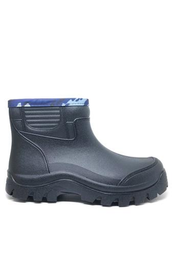 Twenty Eight Shoes black Men's Chunky Rain Boots MC2168 798C8SH8F927E5GS_1