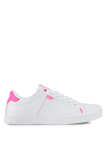 Superdry white and pink Sd Tennis Trainers 2876ESHDD1E49DGS_1
