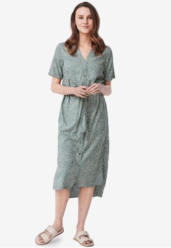 Vero Moda green Printed Shirt Dress CC0C4AAB755482GS_1