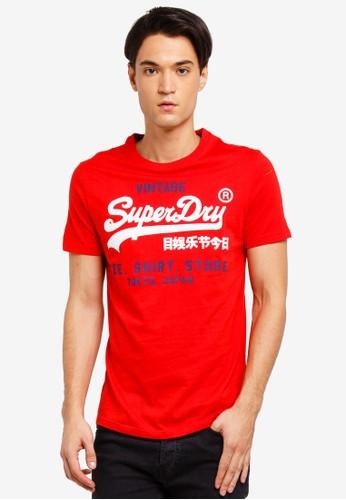 Superdry red Shirt Shop Duo Lite Tee B1D4BAAE48F94FGS_1