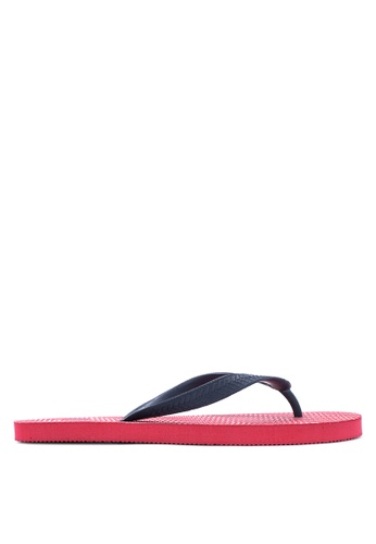 BENCH red Printed Rubber Slippers BE550SH07MBGPH_1