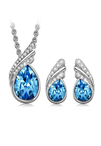 LOVENGIFTS blue LOVENGIFTS Dance With Love Jewellery Set (Blue) 43FF0ACA237FEFGS_1