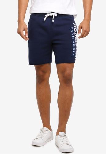 Hollister navy Tech Logo Prep Shorts 9B9DAAAC2FD072GS_1