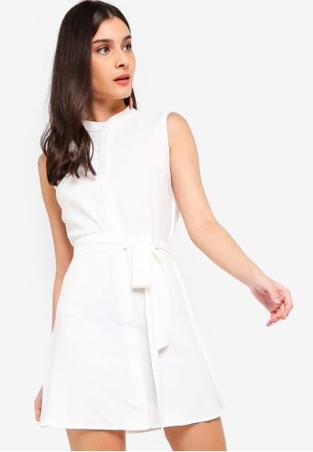 ZALORA white Button Down Detail Dress 46B65AA210F0CEGS_1