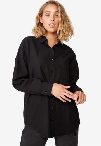 Cotton On black Casual Hudson Shirt C4023AA2BC3403GS_1