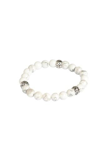 RAM Jewelry white and silver Crux Bracelet E6BB5ACC0599DEGS_1
