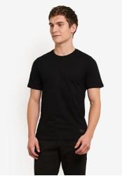 Flesh IMP 黑色 Garter Snake Embroidery T-Shirt FL064AA0S5U0MY_1