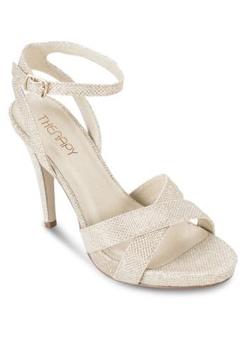 閃飾交叉繞踝高跟鞋, 女esprit outlet台北鞋, 鞋