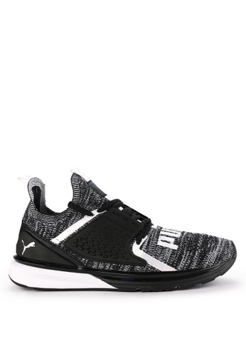 PUMA black and multi Ignite Limitless 2 Evoknit Block Shoes EEF06SH937DF06GS_1
