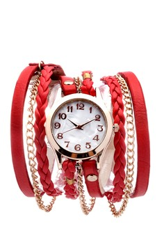 Personalized Belt Braided Rope Lanyards Circling Quartz Bracelet Watch