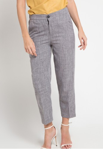 WHITEMODE grey Amber Long Pants 3B8BDAA9D4771DGS_1