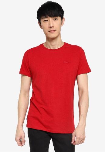 Superdry red Organic Cotton Vintage Embroidery T-Shirt - Vintage Logo Emblem 86963AA6E78EA9GS_1