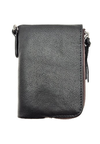 LUXORA black The Ninja Co. Multiple Wallet - Full Grain Leather Cowhide - Coin Card Men Women Purse Gift Black C64F5AC406F50CGS_1