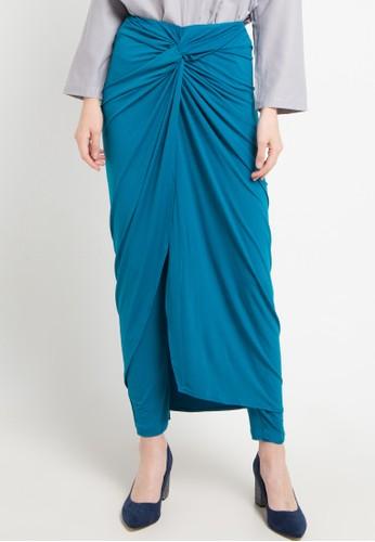 Imperial blue Ikat Skirtpants 91D67AABD7DDB2GS_1