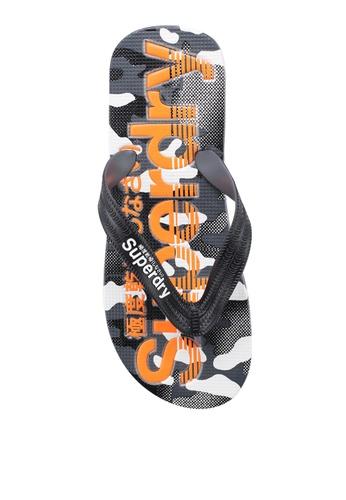 Superdry black AOP Flip Flops E99BDSH7E1154AGS_1
