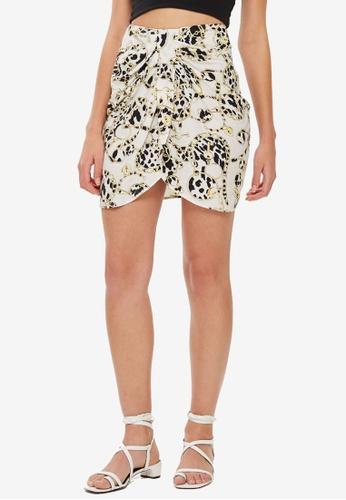 TOPSHOP 白色 Chain Twist Front Mini Skirt 27A97AA81B970EGS_1