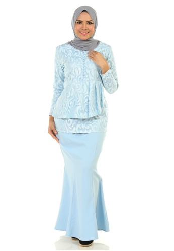 Rosa Kurung With Layered Pleated from Ashura in Blue