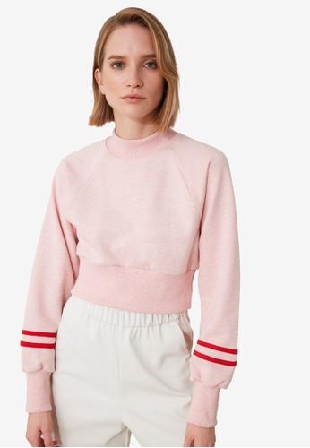 Trendyol pink Cropped Knit Sweatshirt 1AA59AA65A709EGS_1