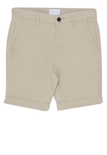 Topman 米褐色 Stretch Skinny Chino Shorts 4F0F2AA84BE94EGS_1