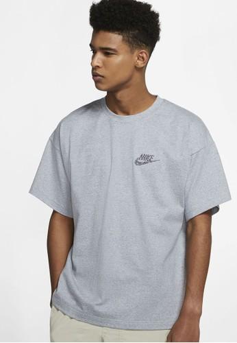 Nike grey AS Men's Sportswear SS Top Jersey 342F1AA284C1D6GS_1