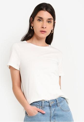 LC Waikiki 白色 Short-袖 基本T-襯衫 D517CAAD18512FGS_1