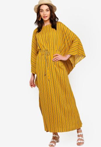 Zalia yellow Drawstring Kaftan 0F57AAA4403F12GS_1