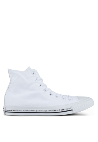 Converse black and white Chuck Taylor All Star Hi Sneakers CO302SH0SW6FMY_1