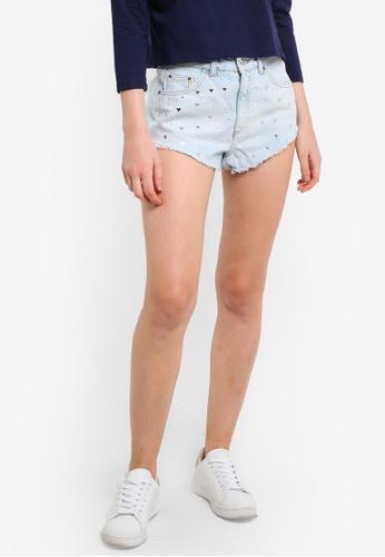 MOTO Heart Stud Kiri Shorts