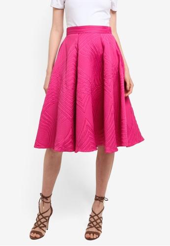 CLOSET pink Panelled Skater Skirt 20C23AA21CF751GS_1