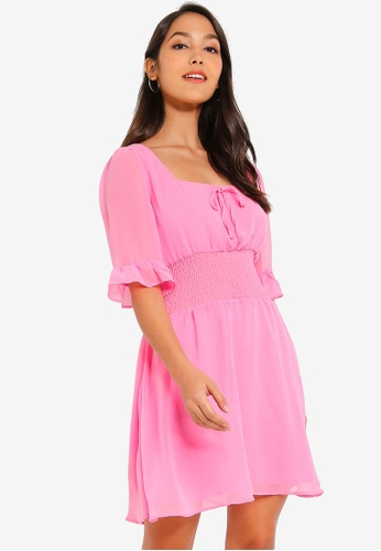 7278a1b3138b Buy Glamorous Chiffon Shirred Dress Online on ZALORA Singapore