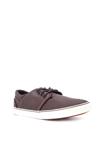Penshoppe brown Lace-Up Sneakers PE499SH0IYYHPH_1