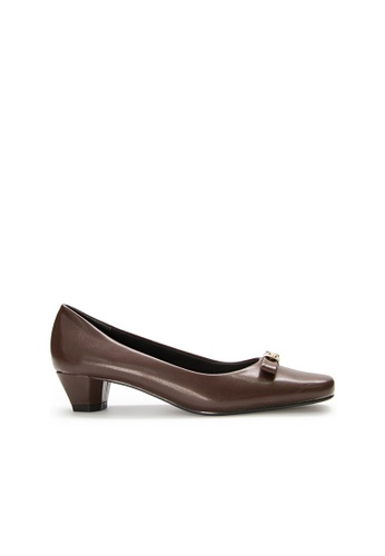 SEMBONIA brown SEMBONIA Synthetic Leather Court Shoe (Dark Brown) B9D22SHC1C9956GS_1