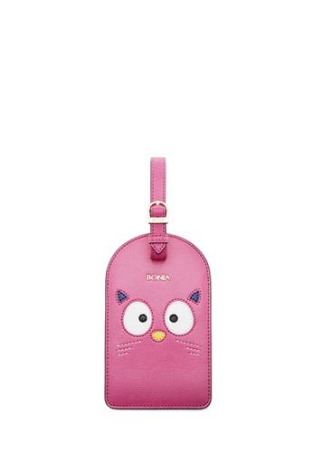 BONIA pink Bonia Pink Dudu Luggage Tag 25537ACE5C7740GS_1