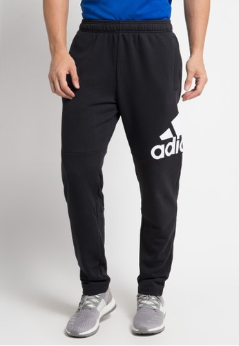 adidas black adidas essentials logo french terry pants 9444EAAD2C8197GS_1