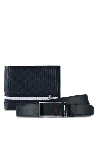 Swiss Polo black and blue Swiss Polo Extra Long Belt & Wallet Gift Set SW912AC0SYLMMY_1