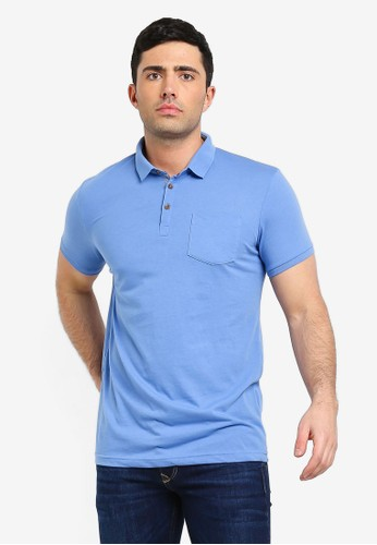 Brave Soul blue Julius Polo Shirt EA6B9AAD74DCD5GS_1